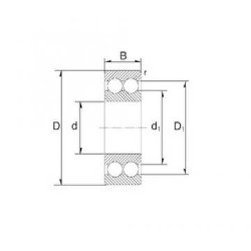 17 mm x 47 mm x 22,2 mm  ZEN 3303 Rolamentos de esferas de contacto angular