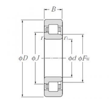 90 mm x 160 mm x 40 mm  NTN NJ2218E Rolamentos cilíndricos