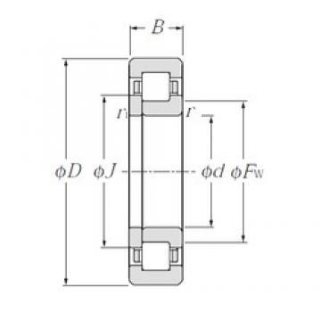 100 mm x 215 mm x 73 mm  NTN NUP2320 Rolamentos cilíndricos