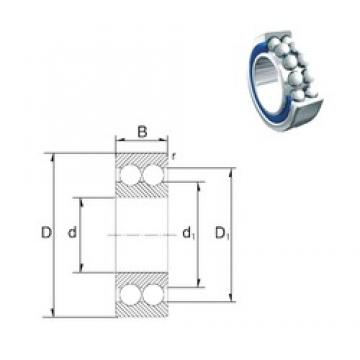 35 mm x 72 mm x 27 mm  ZEN S3207-2RS Rolamentos de esferas de contacto angular