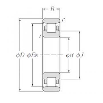 105 mm x 190 mm x 36 mm  NTN N221 Rolamentos cilíndricos
