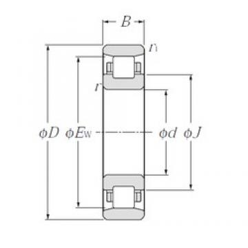 120 mm x 215 mm x 40 mm  NTN N224 Rolamentos cilíndricos