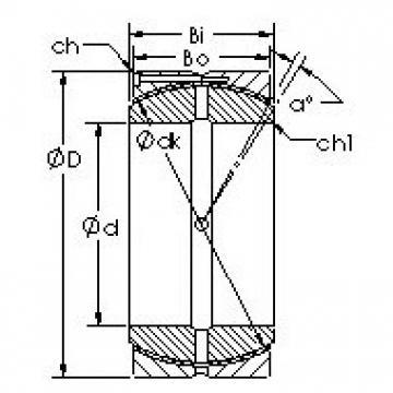 AST GEC600HCS Rolamentos simples