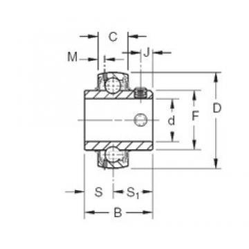 53,975 mm x 100 mm x 55,55 mm  Timken GY1202KRRB Rolamentos de esferas profundas