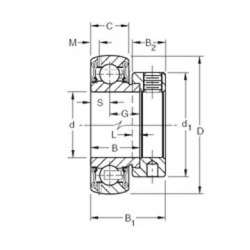 31.75 mm x 62 mm x 23,83 mm  Timken GRA103RRB2 Rolamentos de esferas profundas